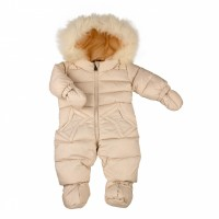 Down overalls with fur ADD milk 68 cm.