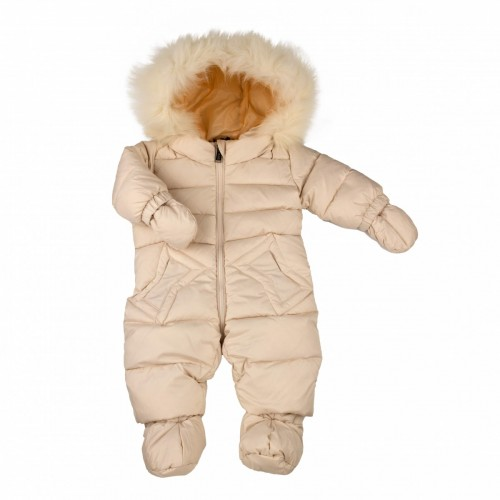 Down overalls with fur ADD milk 80 cm.