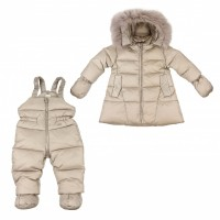 """Down suit (jacket + semi-overalls) ADD """"Trapeze"""" gray 98 cm."""