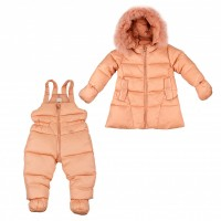 """Down suit (jacket + semi-overalls) ADD """"A-line"""" powdery 86 cm."""
