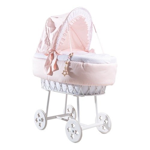 Complete cradle PICCI ARIA with capote, with fabric dressing and mattress