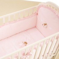 Puccio Bed Duvet Set in pink with long bed bumper