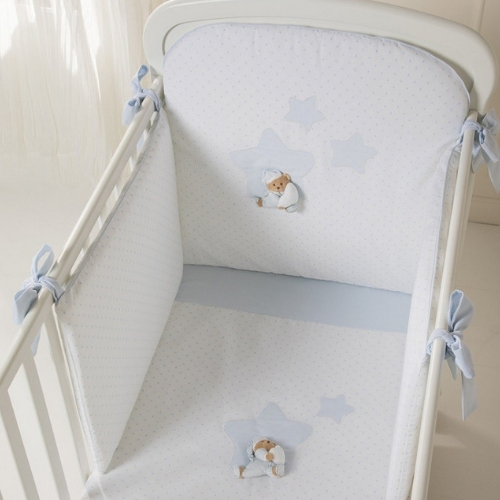 Puccio Star Bed Duvet Set in Light Blue