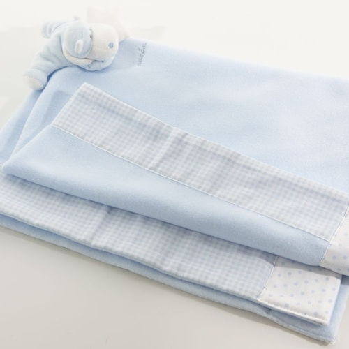 Light blue Bombo fleece blanket for pushchair