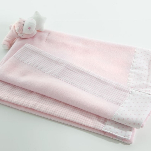 Pink Bombo fleece blanket for pushchair