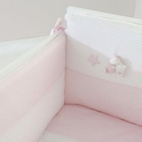 Pink Sef of 4: Duvet,bumper,duvet cover and pillowcase Bombo