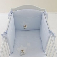 Puccio Star Bed Duvet Set Light Blue