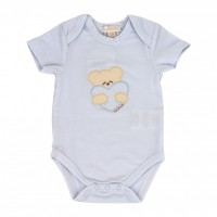 "Bodysuit Nanan ""Bear with a heart"" blue 1 month"