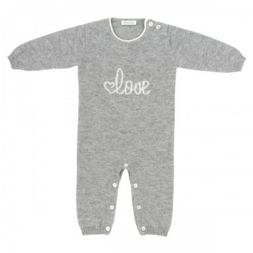 Cashmere romper Love In Kyo Love gray 9 months