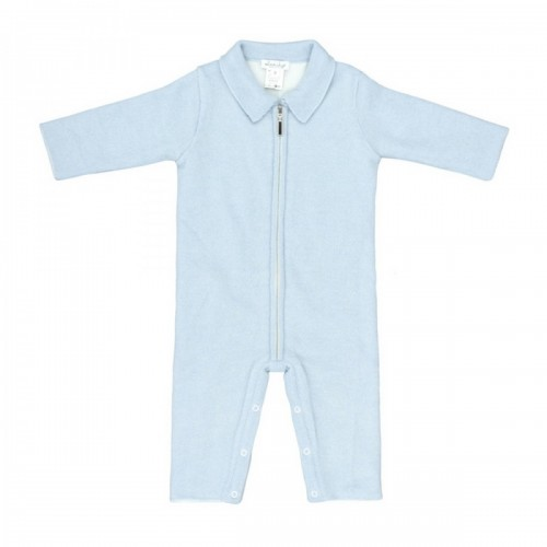 Cashmere romper Love In Kyo with a zipper blue 9 months