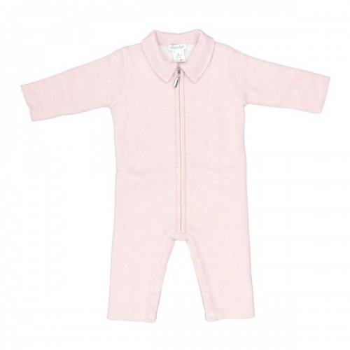 Cashmere romper Love In Kyo with a zipper pink 6 months