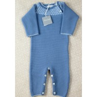 Merino wool romper Love In Kyo blue 6 months