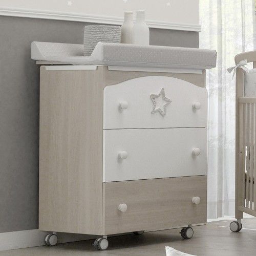 Star changing chest of drawers with a bath