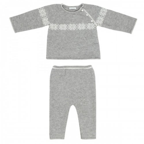 Cashmere suit Love In Kyo gray with ornament 3 months.