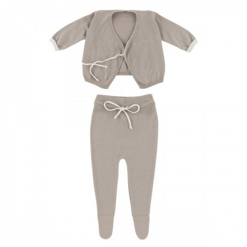 Cotton Suit (wrap jacket + pants) Love In Kyo beige 1 month