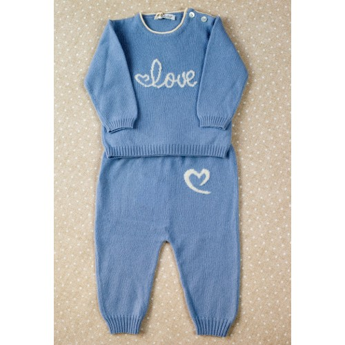 Cashmere suit Love In Kyo Love blue 6 months.