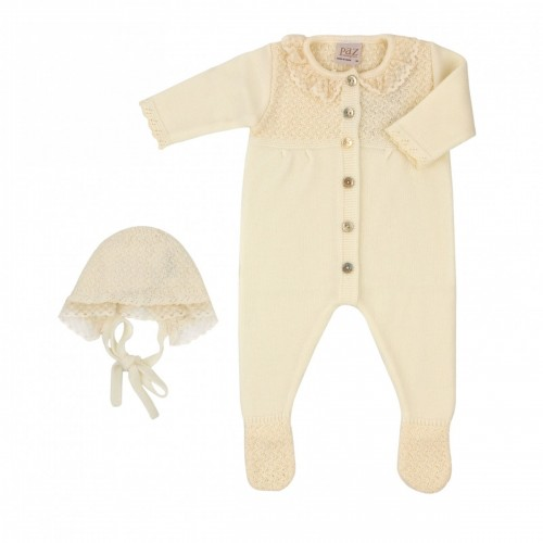 Paz Rodriguez ALBA set, a romper with a hat, 1 month