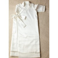 Christening shirt Pusha PSH15 silk ivory 0-3 months