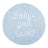 Baby You Rock Blue rug