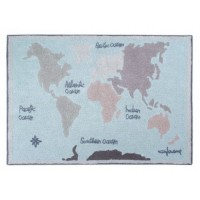 Washable Rug Vintage Map