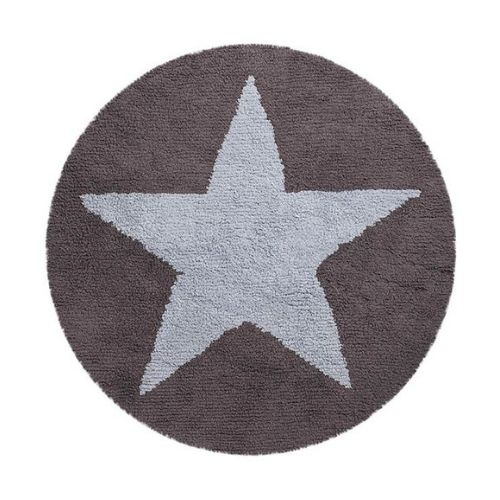 Reversible Dark Grey-Blue Rug