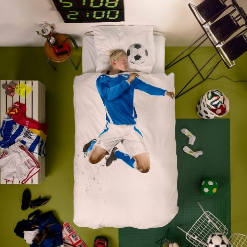 Soccer Camp Blue bedding Snurk