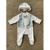 Elegant suit Pusha Jay White-blue 54 cm